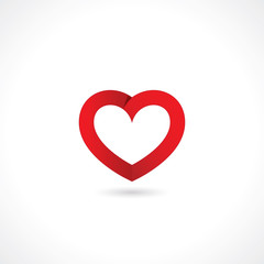 paper red heart