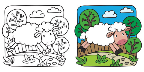 Little sheep coloring book