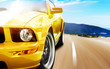 Yellow sport car - 69819500