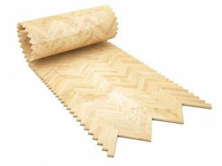 Wooden floor, Rool concept of parquet