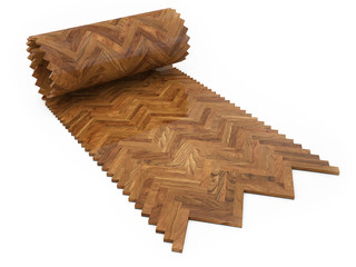 Wooden floor, Rool concept of parquet
