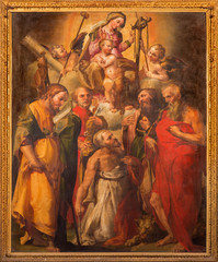 "Bologna - Madonna with the saints in ""Oratorio de Batutti"""