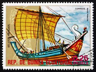 Postage stamp Equatorial Guinea 1974 Phoenician Ship