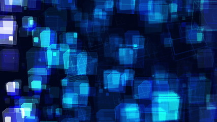 Blue Abstract Animated Cubes