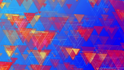 Abstract Animated Pyramids