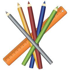 Stifte und Lineal