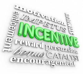 Incentive 3d Word Background Motivation Rewards Encouragement