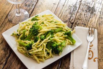 Trofie with broccoli