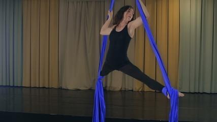 Practicing Aerial silk