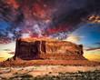 Zdjęcia na płótnie, fototapety, obrazy : Desert Butte in Utah