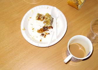Whats left of tea and cake