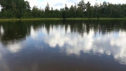 summer rain on the lake