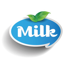 Milk label tag
