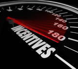 Incentives Car Speedometer Auto Dealership Buy Vehicle Save Mone poster
