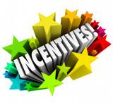 Incentives 3d Word Stars Fireworks Advertising Promotion Rewards poster