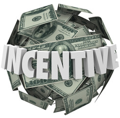 Incentive Word Money Ball Encouragement Buy Sell More