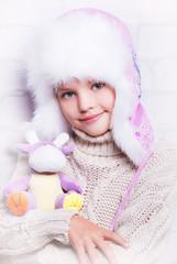 зима, мех, шапка