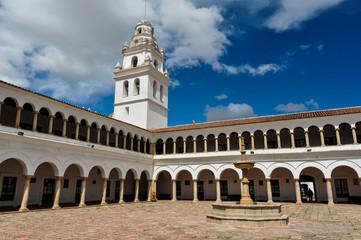 Huge plaza of Sucre, Capital of Bolivia