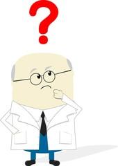 scientist thinking cartoon