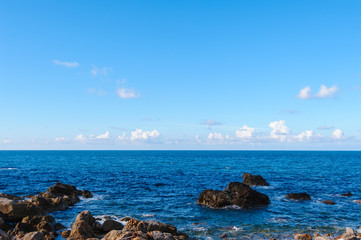 view of the pacific coastline along taiwan north east