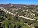 Southern California Congested Highway Aerial View in Los Angeles poster