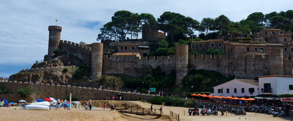 Old fortress in Tossa over Playa Grande beach