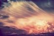 Leinwanddruck Bild - Scenic Sunset Storm