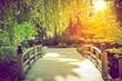 Leinwanddruck Bild - Scenic Garden Bridge