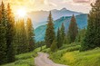 Leinwanddruck Bild - Mountain Landscape