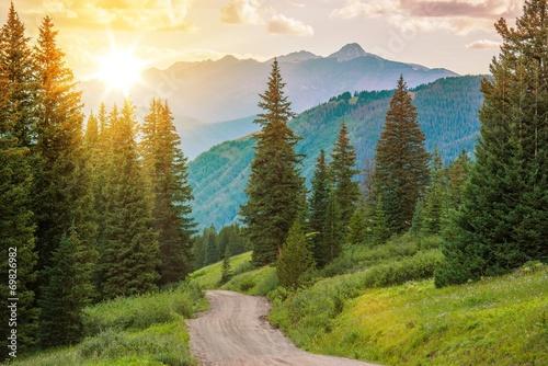 Leinwanddruck Bild Mountain Landscape