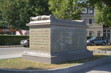 Pilgrim Sarcophagus, aka Ossuary, Plymouth MA, USA