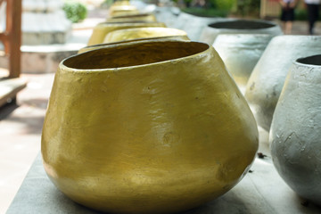 monk's alms bowl in Thailand