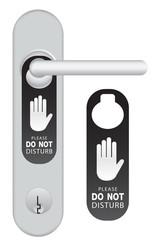 Hotel Door Hanger Tags Vector
