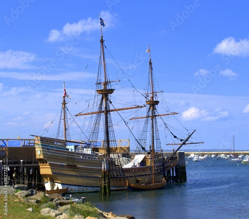 Replica of Mayflower, Plymouth MA, USA - 69827787