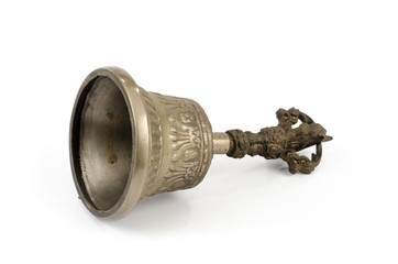 Ancient brass hand bell