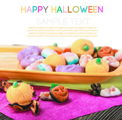 sweets and candies for happy halloween