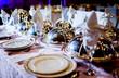 Leinwanddruck Bild - Wedding table arrangement