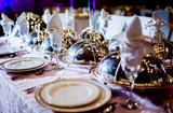 Wedding table arrangement - 69828771