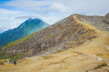 Kawah Ijen Volcano in East Java , Indonesia
