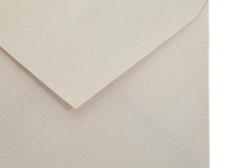 close - up empty brown paper envelope
