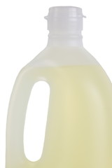 Bottle of oil isolated on a white background