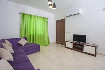 Interior of luxury apartment living room