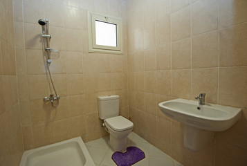 Interior of bathroom in apartment