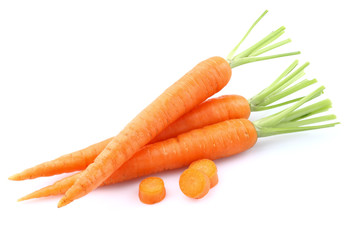 Young carrot with slice
