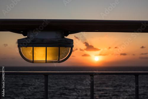 canvas print picture Sonnenuntergang auf der Ostsee