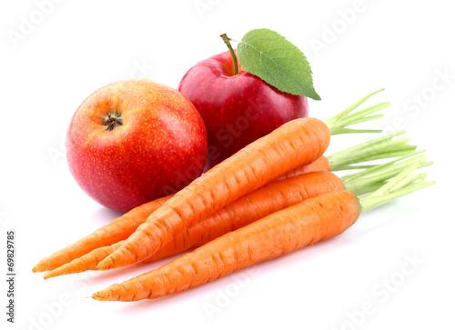 Canvas Keuken Carrot with apple