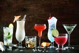 Selection of festive Christmas drinks