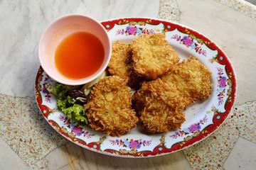 fried shrimp Cakes, Thai food