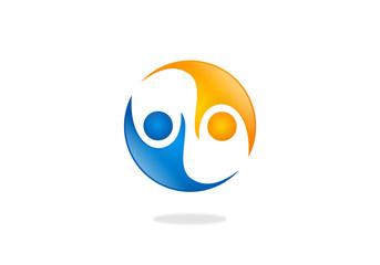 people help partner icon vector logo