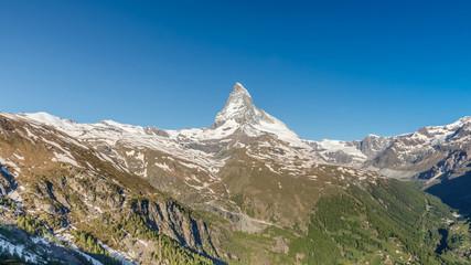 Matterhorn with blue sky, Zermatt, Switzerland